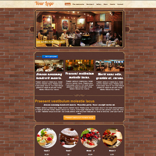 Coffe Restaurant  wordpress template